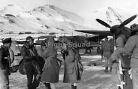 WW2 Picture Photo Attu Island 1944 Members USAAF 54th Fighter Squadron 2435