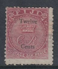 Sg15, 12c on 6d carmine-rose - Mounted mint - Cat £120