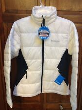 Columbia Isolated Point Puffer Jacket White Women's L $130 NWT New XL5974-125