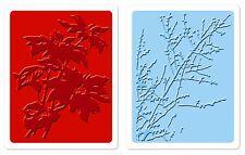 Sizzix Brush Poinsettia & Winter Berries Emboss 2-pk set #658273 Retail $10.99