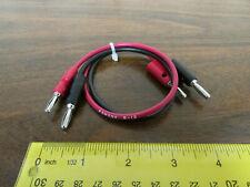 Pomona B-12-2 + B-12-0 Banana Plug Patch Cord Set Red / Black
