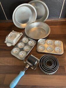 Vintage Baking Tins Cutters Job Lot