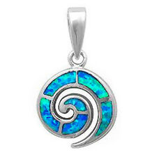 New Blue Opal  .925 Sterling Silver Pendant