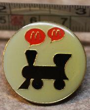 McDonalds Monopoly Railroad Train 1997 Employee Collectible Pinback Pin Button