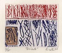"Riccardo LICATA ""Oriente"" , 2011 acquaforte acquatinta originale firmata"