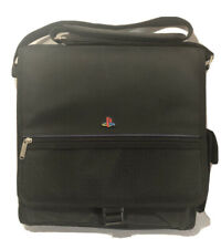 Original Sony PlayStation Console Carrying Case Messenger Style Bag Black.