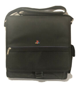 Original Sony PlayStation Console Carrying Case Only Messenger Style Bag Black.