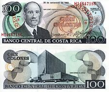 Costa Rica 100 Colones Banknote World Paper Money Unc Currency Pick p261a 1993