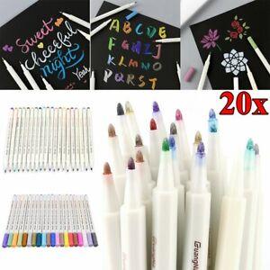 20 Farben Acrylstifte für Steine Bemalen Permanent Wasserfest Metallic Marker DE