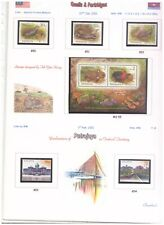 Malaysia 2001 album pages with all (12 issues) stamps and minisheets MNH