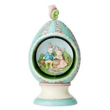 Jim Shore Strolling Through Spring Easter Egg with Rotating Scene 6003625 New