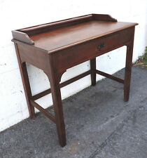 Early 1900s Small Solid Wood Writing Desk Table  8242