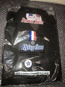 Flying Cross dark brown deluxe tropical uniform shirt zipper M s/s