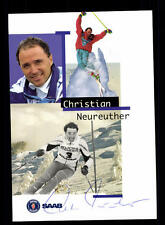 Christian Neureuther AUTOGRAPHE CARTE Original signé Skialpine + A 124728