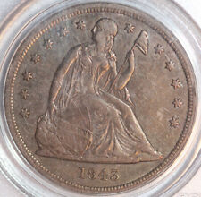 1843 $1 Seated Liberty Dollar XF40 PCGS silver