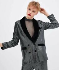 Zara Blazer Hip Coats, Jackets & Waistcoats for Velvet Outer Shell Women