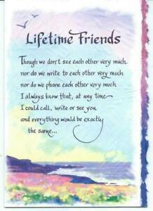 Blue Mountain Arts Sentimental Card: Friend - Lifetime Friends
