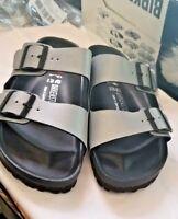 Birkenstock EVA Women's Double Strap Silver Gray Sandals Size EUR42/ US11-11,5