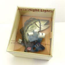 Night Light Fish Fishing Handcrafted Art Metal Automatic Light Sensor FIGI