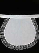 childs white pinny apron maid waitress catering victorian edwardian tudor alice