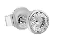 0,08 Quilates Diamante Pendientes de los hombres SERIE 750 18 Oro Blanco &