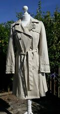 Per Una Coat Size 10 Raincoat Mac Beige Cream Trench Jacket Shower Proof Ex Con
