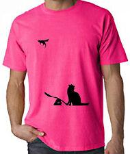 BANKSY CAT & MOUSE NEON T-SHIRT - Choice Of Colour Sizes S-XXL - FREE P&P