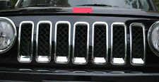 for Jeep Patriot 2011-2017 Chrome Front Grill Grille Inserts Trim Bezel Cover