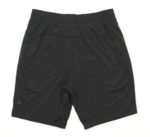 Lululemon Men's Lined Running Gym Casual Exercise Shorts Athletic Sz Large Black