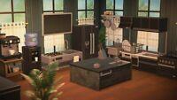 Animal Crossing New Horizons Black Kitchen Furniture Set