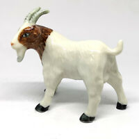 Country Farm Animals Ceramic White Goat Figurine Craft Collectible Miniature