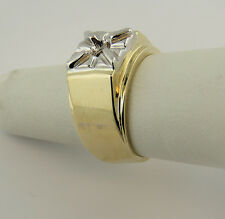 1Ct Men's Solitaire Ring Mounting 14K Yellow Gold For 6.5 mm Round Diamond