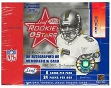 2002 Leaf Rookies & Stars Box of Football Trading Card Packs - Factory-Sealed
