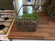 Vintage Steel Milk Crate Six Bottles