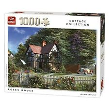 King 5679 Roses House Jigsaw Puzzle (1000-piece) - 1000 Piece 0 Cottage