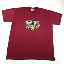 Wisconsin Timber Rattlers Mens 3X Red T Tee Shirt Crew Neck 2 Button Henley