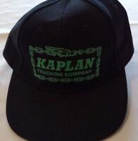 Kaplan Trucking Company Adjustable Black Baseball Trucker Golf Hat Cap New