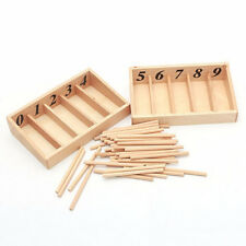 Montessori Educational Wooden Toys For Children Spindle Box With 45 Spindles