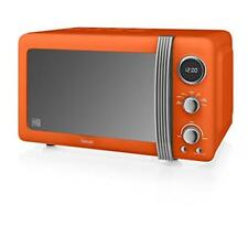 Swan SM22030ON Orange Retro 800w Digital Freestanding Microwave