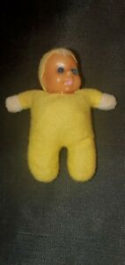 Vintage 1970's Baby William Matchbox Miniature Doll Bean Bag Yellow
