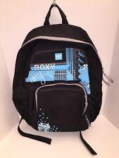 ROXY Backpack Blue Black Women Girl School Travel