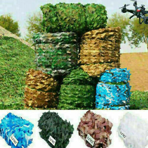 4m*6m Camo Net Hunting/Shooting Camouflage Hide Army Camping Woodland Netting UK