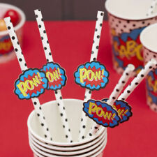 Paper Birthday, Adult Party Tableware Straws