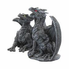 More details for nemesis now dark fury set of 2 obsidian dragons 10cm beasts fantasy dragon gift