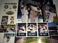 Seattle Mariners Ichiro Suzuki Felix Hernandez BASEBALL stickers cards + photos