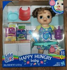 Hasbro Baby Alive Happy Hungry Baby Brunette Brown Hair Doll NIB