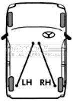 First Line Parking Hand Brake Cable Handbrake FKB1043 - 5 YEAR WARRANTY