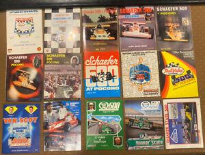 Vintage Lot Of 15 1971 to 1989 POCONO Indy Car Programs
