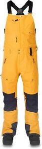 Dakine Mens Stoker Gore-Tex® 3L Bib Snowboard Pants Large Golden Glow Night Sky
