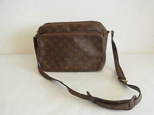 Auth QY03 Louis Vuitton Monogram Nile shoulder bag vintage M45242 Vintage